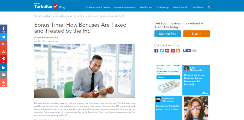 Our series featured on the INTUIT website.
